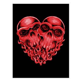 Heart Skulls Postcard