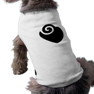 heart sleeveless dog shirt