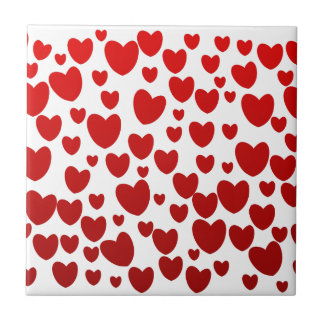 Heart Small Square Tile