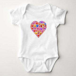 Heart smiley baby bodysuit