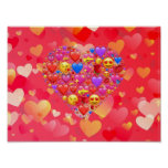 Heart smiley poster