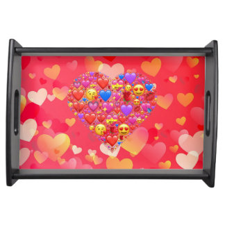 Heart smiley serving tray