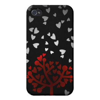 Heart snowfall iPhone 4/4S covers