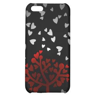 Heart snowfall iPhone 5C cases