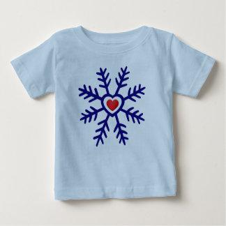 Heart Snowflake Christmas | navy red T-shirts