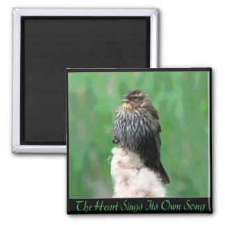 Heart Song Square Magnet