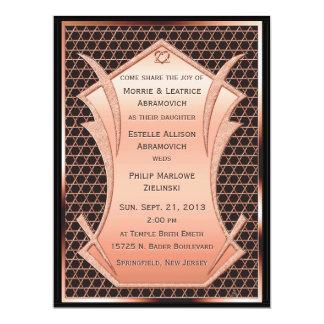 """Heart & Soul - Copper  (Wedding Invitation) 6.5"""" X 8.75"""" Invitation Card"""