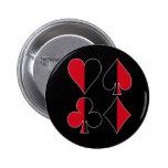 Heart Spade Diamond Club 6 Cm Round Badge