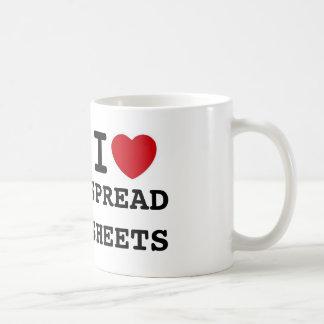 heart, SPREADSHEETS, I Classic White Coffee Mug