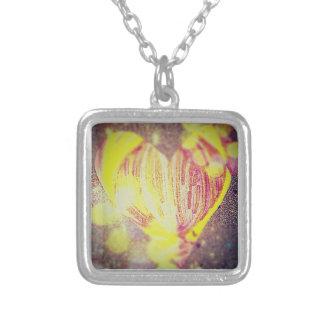 Heart Square Pendant Necklace