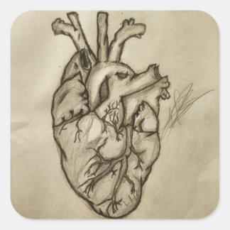 Heart ;-; square sticker
