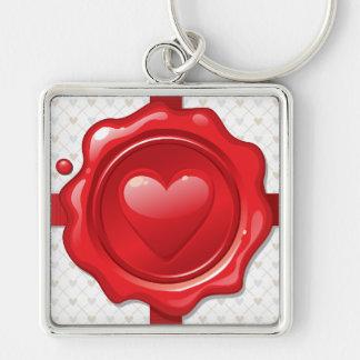Heart Stamp 1 Keychain