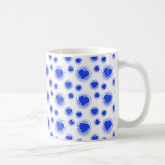 Heart Starburst 3 Blue Coffee Mug