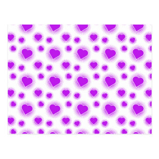Heart Starburst 3 Purple Postcard