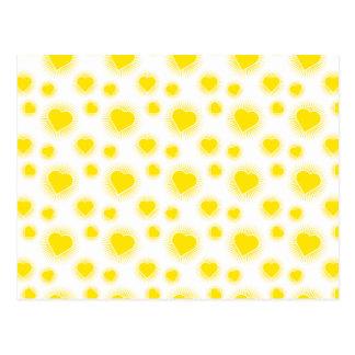 Heart Starburst 3 Yellow Postcard