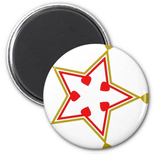 heart-stars-12 6 cm round magnet
