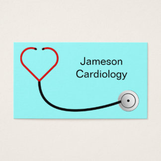 Heart Stethoscope Business Card