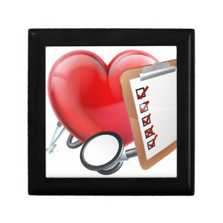 Heart Stethoscope Clipboard Medical Concept Gift Box