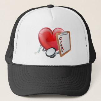 Heart Stethoscope Clipboard Medical Concept Trucker Hat