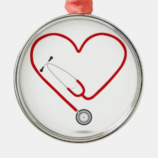 heart stethoscope.jpg Silver-Colored round decoration