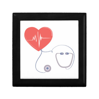 Heart Stethoscope Small Square Gift Box