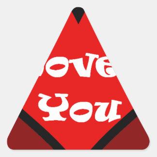 heart. triangle sticker