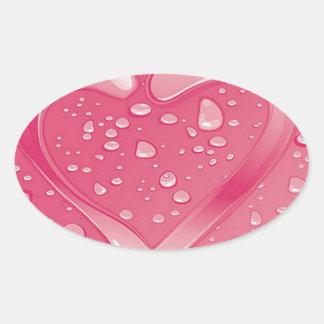 heart oval stickers