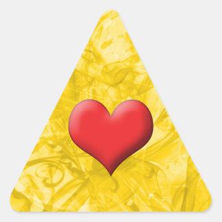Heart Triangle Stickers