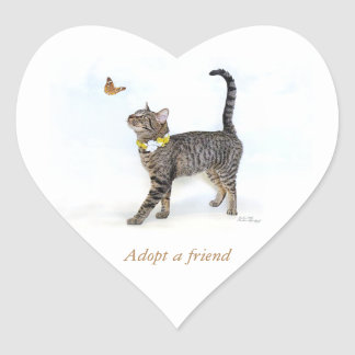 Heart Sticker featuring Tabatha, the Tabby
