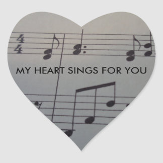 Heart Sticker with music and text