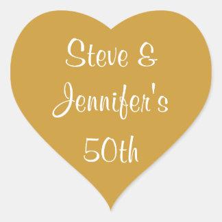 Heart Stickers 50th Wedding Golden Anniversary 50