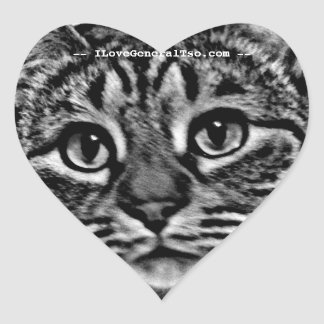 Heart Stickers - General Tso Logo