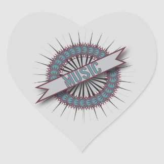 Heart Stickers MUSIC CIRCLE LOGO
