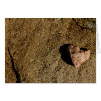 Heart Stone Greeting Card