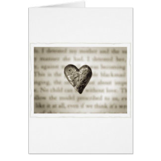 Heart (Stone) Greeting Card