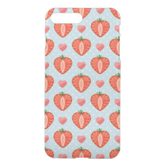Heart Strawberries with Polka Dots And Hearts iPhone 8 Plus/7 Plus Case
