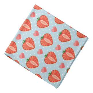 Heart Strawberries with Polka Dots And Hearts Kerchief