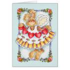 Heart String Bunny - Valentine Card