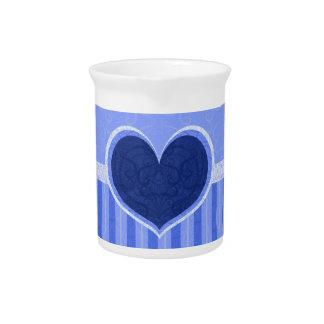 Heart Stripes Pitchers