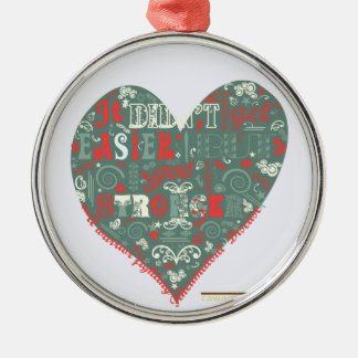 Heart - stronger christmas ornament