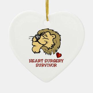 Heart Surgery Survivor Lion Christmas Ornament