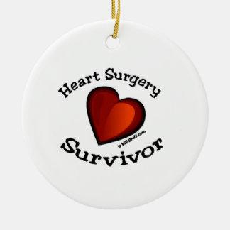 Heart Surgery Survivor Round Ceramic Decoration