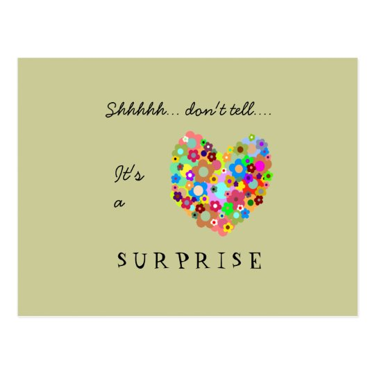 Heart Surprise Party Invitation Postcard