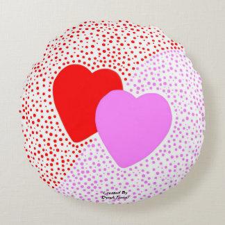 Heart Surprise Round Throw Pillow Round Cushion
