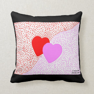 Heart Surprise Square Throw Pillow With Black Cushion
