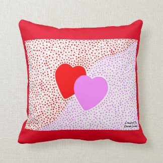 Heart Surprise Square Throw Pillow With Red Cushion