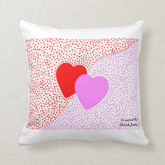 Heart Surprise Square Throw Pillow With White Cushion