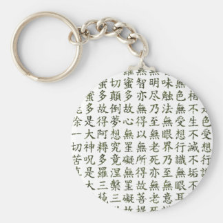 Heart Sutra (carrying it is young the heart sutra) Keychain