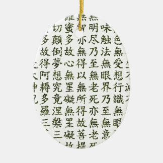 Heart Sutra (carrying young heart sutra) Ceramic Oval Decoration