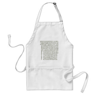 Heart Sutra (carrying young heart sutra) Standard Apron